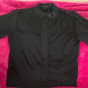 BCBG Maxazria Black Women's Top Shirt